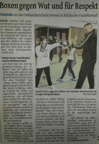 Box AG in der Sekundarschule Grefrath